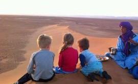 Marokko met kind