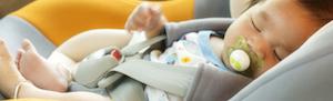 baby in de auto
