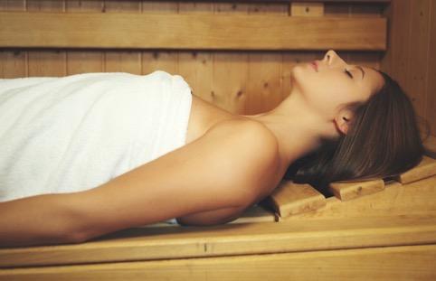 verwendag in de sauna