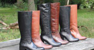 brede hoge laarzen