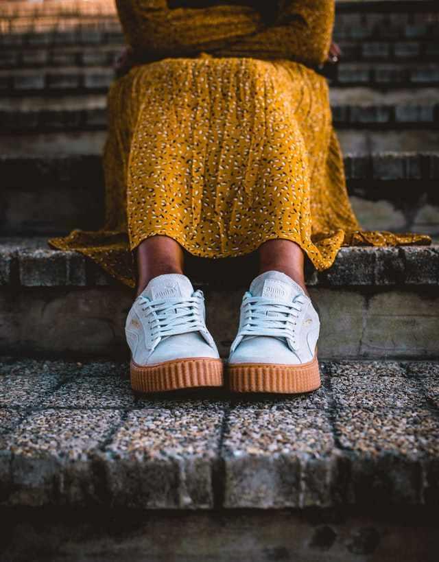 Jurk met sneakers