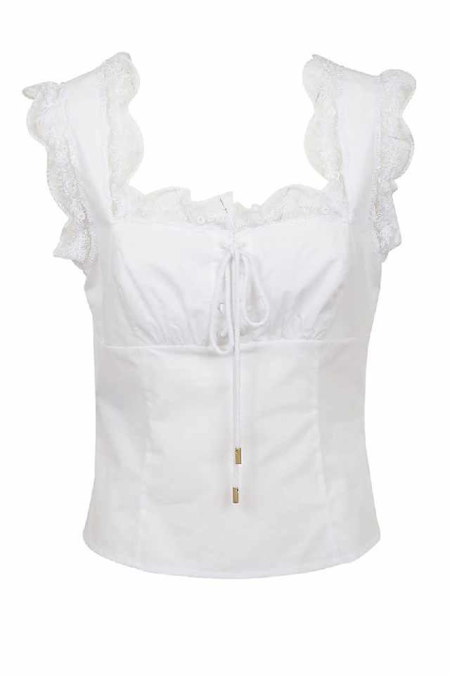 Witte corset blouse Alberta Ferretti