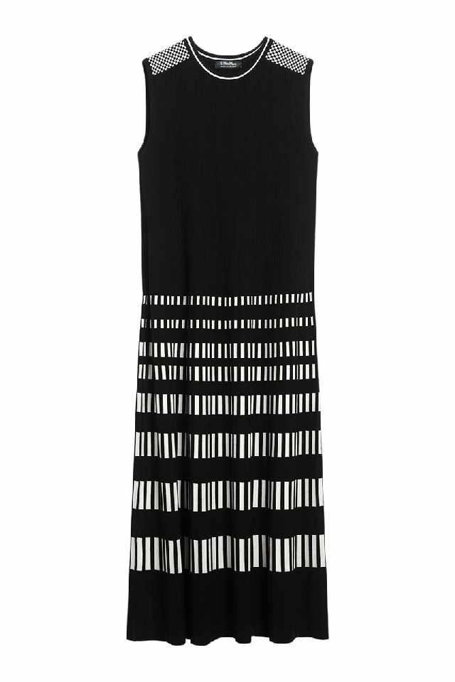 Zwart wit jurk van Max Mara